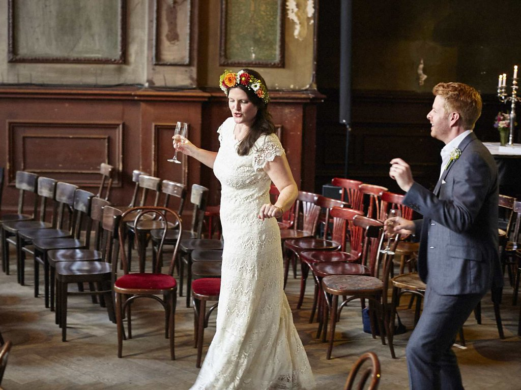 Wilde Vintage-Hochzeit